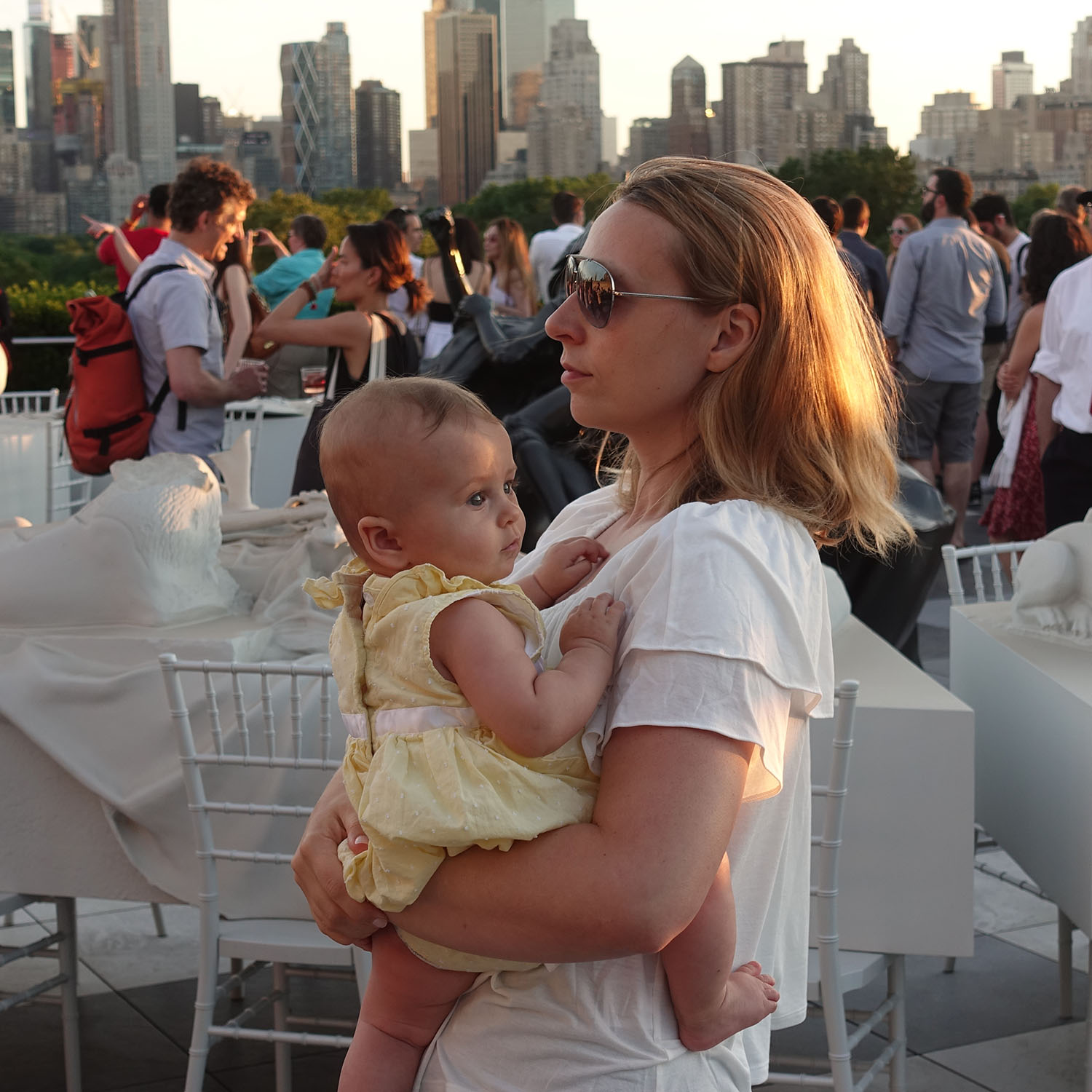 Anastasia Louise Sudentas visits an exhibition by Argentinian artist Adrián Villar Rojas on the Met's Roof