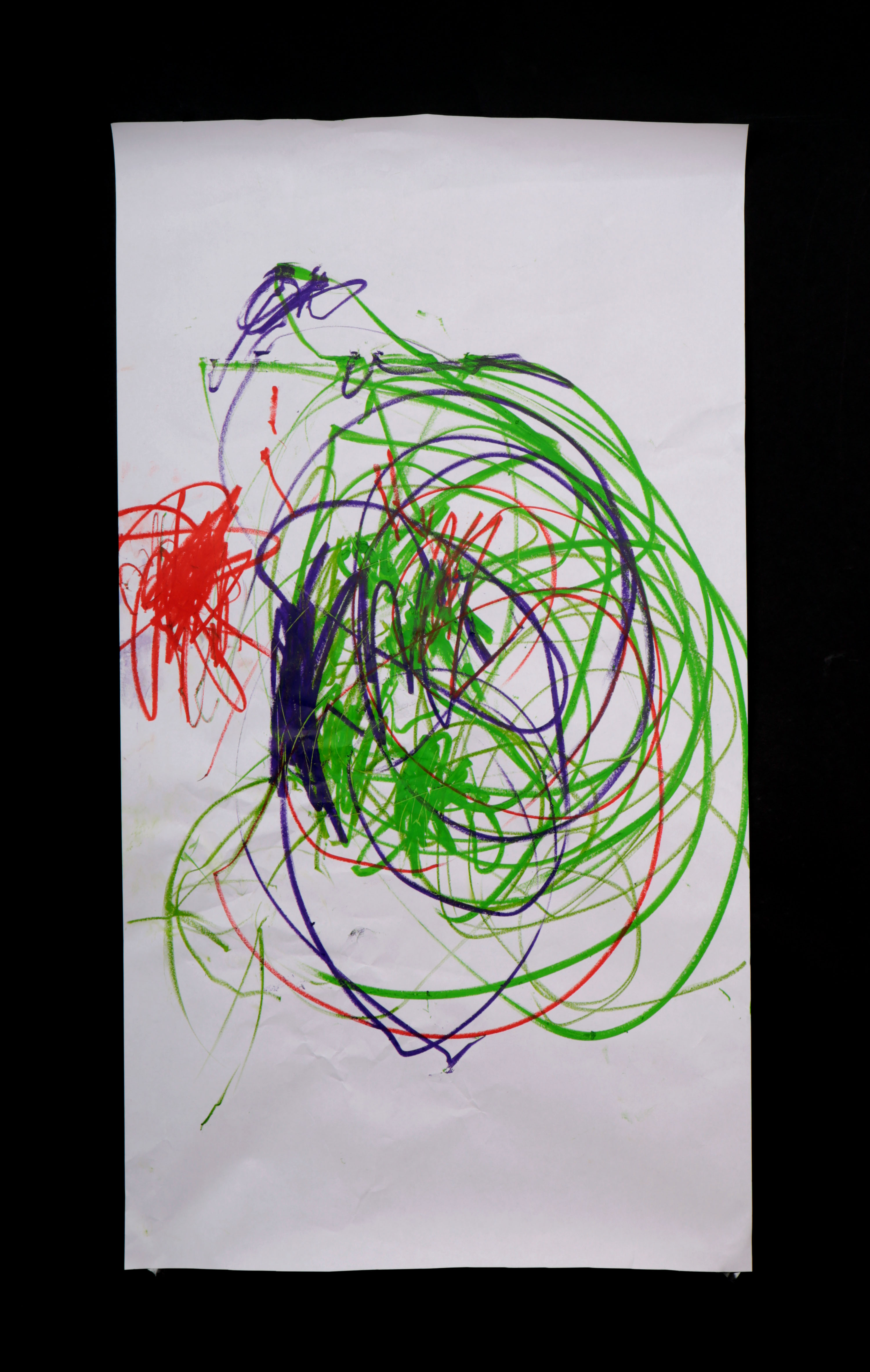 Art by Anastasia. Untitled #72. Gel sticks on paper.