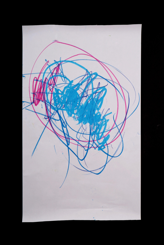 Art by Anastasia. Untitled #73. Gel sticks on paper.