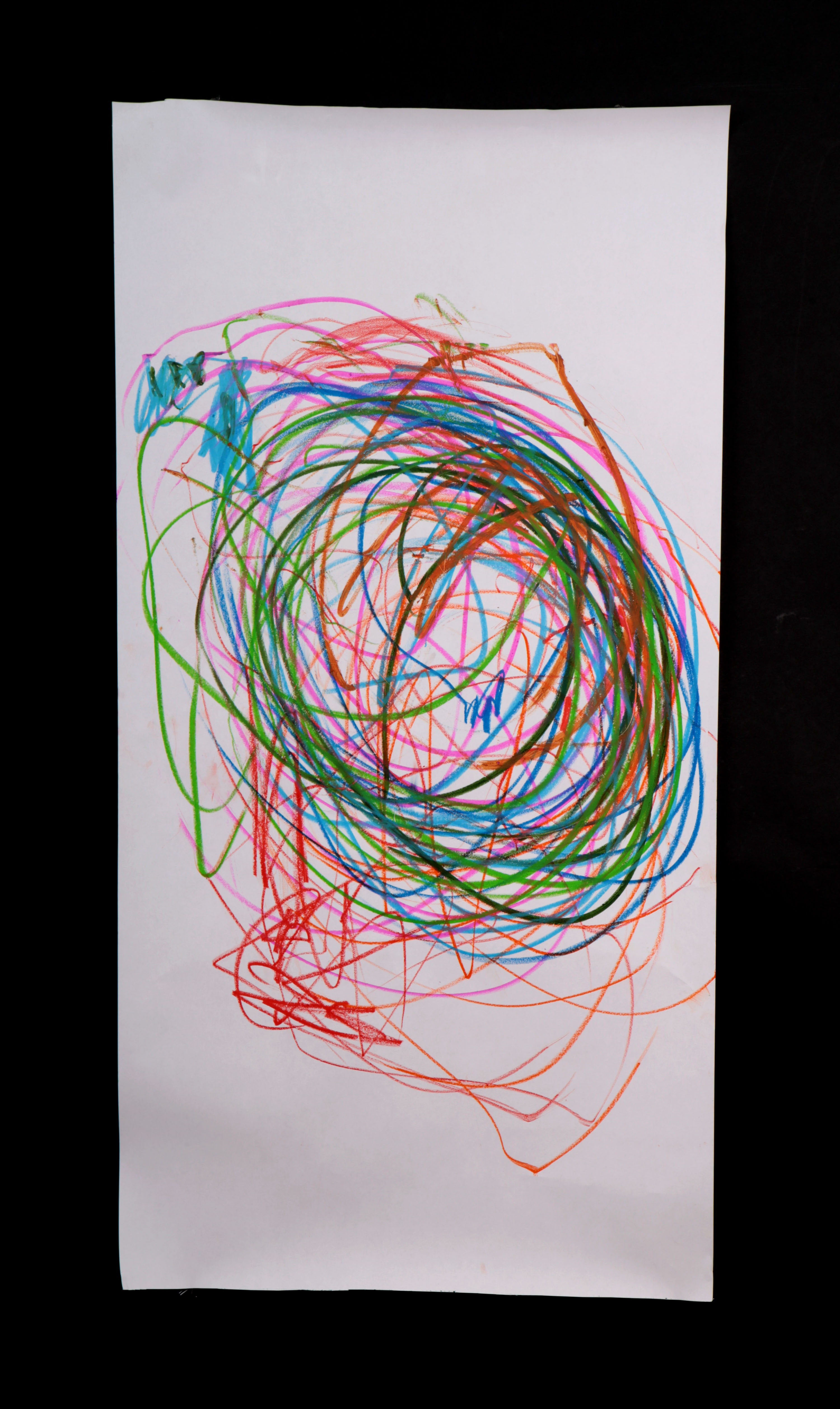 Art by Anastasia. Untitled #75. Gel sticks on paper.