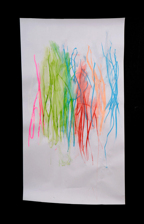 Art by Anastasia. Untitled #80. Gel sticks on paper.
