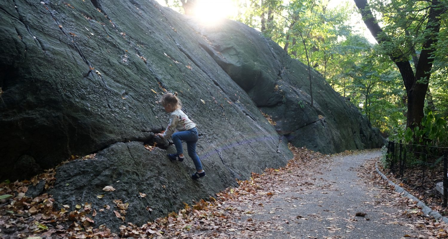 Anastasia does bouldering in Central Park